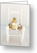 Duckling Greeting Cards - Sitting Pretty Greeting Card by Amy Tyler