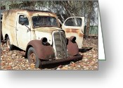 Chev Pickup Greeting Cards - Sitting Van Greeting Card by James Mcinnes