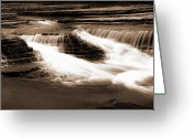 Tamyra Ayles Greeting Cards - Six Finger Falls Greeting Card by Tamyra Ayles