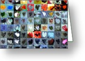 Heart Collage Greeting Cards - Six Hundred Series Greeting Card by Boy Sees Hearts