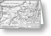 York Drawings Greeting Cards - Six Nations Map 1771 Greeting Card by Granger