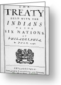 Native American Greeting Cards - Six Nations Treaty, 1742 Greeting Card by Granger