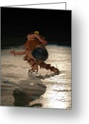 Ice Skater Greeting Cards - Skater Greeting Card by Jim  Hatch