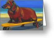 Debbie Brown Greeting Cards - Skaterdog Greeting Card by Debbie Brown
