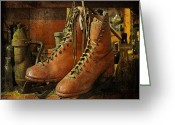 Antique Skates Greeting Cards - Skates Greeting Card by Karen Lynch