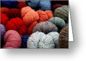 Yarn Greeting Cards - Skeins of Yarn Greeting Card by Richard Mansfield