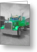 Truck Shows Greeting Cards - Skeleton Dump Truck Greeting Card by Randy Harris