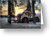 Rivet Greeting Cards - Skidder Sunrise Greeting Card by Heather  Rivet