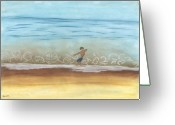 Beaches Greeting Cards - Skim Border Greeting Card by Stu Hanson