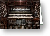 Knob Greeting Cards - Skinner Pipe Organ Greeting Card by Clarence Holmes