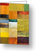 Contemporary Collage Greeting Cards - Skinny Color Study l Greeting Card by Michelle Calkins