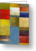Layered Greeting Cards - Skinny Color Study ll Greeting Card by Michelle Calkins