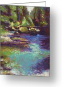 Washington Pastels Greeting Cards - Skokomish River Greeting Card by Mary McInnis