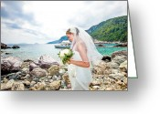 Skopelos Greeting Cards - Skopelos Mamma Mia Wedding Greeting Card by Nick Karvounis