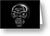 Death Head Greeting Cards - Skull Work Greeting Card by David Lee Thompson