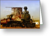 Locomotive Greeting Cards - Skunk Train Greeting Card by Donna Blackhall