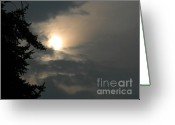 Looking To The Light Greeting Cards - Sky Beauty Greeting Card by Valia Bradshaw