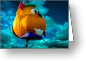 Balloon Festival Greeting Cards - Sky Beaver Greeting Card by Bob Orsillo