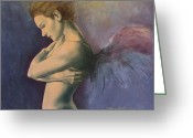 Emotion Greeting Cards - Sky below ground Greeting Card by Dorina  Costras