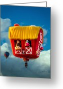 Hot Air Greeting Cards - Sky Farming  Greeting Card by Bob Orsillo