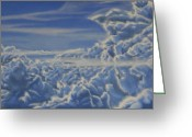 Photo-realism Greeting Cards - Sky Greeting Card by Michael Flynt