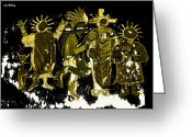 Ancient Aliens Greeting Cards - Sky People 5 Greeting Card by Doug  Duffey