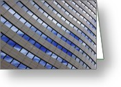 Abstract Building Greeting Cards - Sky Reflections Greeting Card by Mike Reid