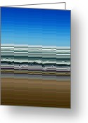 Abstract Sky Greeting Cards - Sky Water Earth Greeting Card by Michelle Calkins