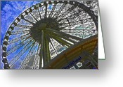 Buffalo New York Greeting Cards - Sky Wheel Greeting Card by Elizabeth Hoskinson