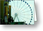 Ferris Wheels Greeting Cards - Sky Wheel Greeting Card by Karen Wiles