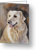 Panting Dog Greeting Cards - Skyler Greeting Card by Patricia Pushaw