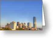 Cityspace Greeting Cards - Skyline Greeting Card by Malania Hammer