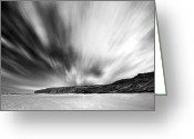 Seaview Greeting Cards - Skyline Greeting Card by Svetlana Sewell