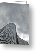 Grey Clouds Greeting Cards - Skyrise Chicago Greeting Card by Skip Willits