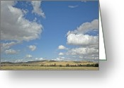 Cumulus Greeting Cards - Skys the Limit Greeting Card by Bonnie Bruno