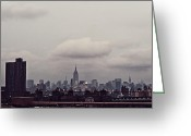 Nyc Cityscape Greeting Cards - Skyscraper Greeting Card by Benjamin Matthijs