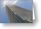 Cities Greeting Cards - Skyscraper Greeting Card by Jacobs Stock Photography