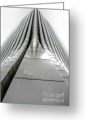 Rochester Ny Greeting Cards - Skyscraper Greeting Card by Ken Marsh