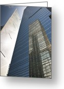 Architecture Greeting Cards - Skyscraper reflection Greeting Card by Jacobs Stock Photography
