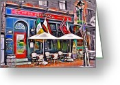 Irish Mixed Media Greeting Cards - Slainte Irish Pub and Restaurant Greeting Card by Stephen Younts