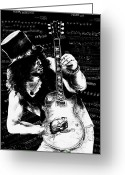 Guitar Mixed Media Greeting Cards - Slash Greeting Card by Kathleen Kelly Thompson
