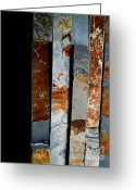 Slates Greeting Cards - Slate Colors Greeting Card by Jose Luis Reyes