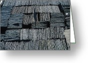 Slates Greeting Cards - Slate Tiles Greeting Card by Dirk Wiersma