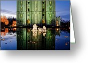 Salt Lake City Temple Photo Greeting Cards - SLC Temple Nativity Greeting Card by La Rae  Roberts