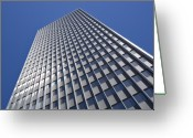 Building Detail Greeting Cards - Sleek and Silver Greeting Card by Kelley King