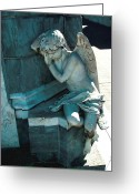 Angel Posters Greeting Cards - Sleeping Angel Greeting Card by Jeffery Bradford