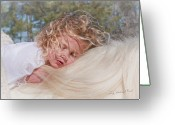 Storybook Greeting Cards - Sleeping Angel Greeting Card by Terry Kirkland Cook