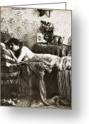 Perrault Greeting Cards - SLEEPING BEAUTY, c1900 Greeting Card by Granger