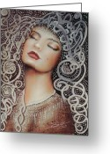 Galloway Greeting Cards - Sleeping Beauty Greeting Card by Susi Galloway