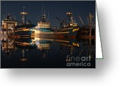 Discovery Channel Greeting Cards - Sleeping Crabber Greeting Card by Sam Amato